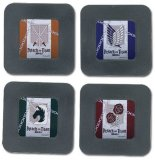 Attack on Titan Symbols 4 Plastic Coaster Set