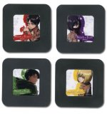 Attack on Titan People 4 Plastic Coaster Set