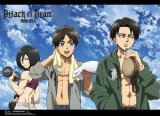 Attack on Titan Working Out Wall Scroll Poster (U.S. Customers Only)