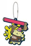 Splatoon X Sanrio Pom Pom Purin Rubber Key Chain