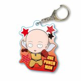 One Punch Man Saitama Happy Acrylic Key Chain