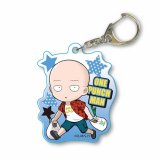 One Punch Man Saitama Shopping Acrylic Key Chain