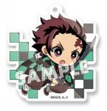 Demon Slayer Kamado Tanjiro Sleeping Decotto Acrylic Ball Chain Key Chain Vol. 3