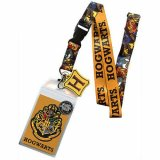 Harry Potter Yellow Hogwarts Reversible Lanyard Key Chain
