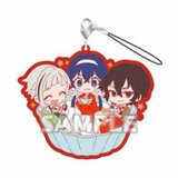Bungo Stray Dogs Group Eating Dessert Rubber Phone Strap