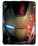 Marvel Iron Man Helmet Fleece Throw Blanket