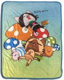Monster Hunter Felines Fleece Throw Blanket