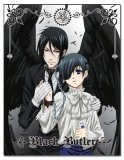 Black Butler Ciel and Sebastian with Wings Fleece Throw Blanket