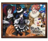 Black Butler Halloween Group Fleece Throw Blanket