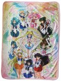 Sailor Moon Full Group Fleece Throw Blanket