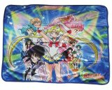 Sailor Moon Super S Group Fleece Throw Blanket