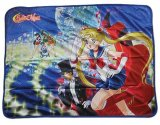 Sailor Moon Evening Group Fleece Throw Blanket