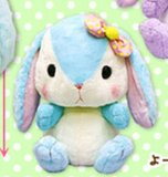Pote Usa Colorful 15'' Blue w/ Bow Bunny Amuse Prize Plush