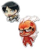 Attack on Titan Eren and Colossal Titan Pin Set
