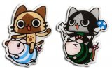 Monster Hunter Hunter Airou Riding Poogie Pin Set