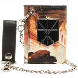 Attack on Titan Trainee Crest Trifold Chain Wallet