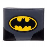 Batman Logo Gray and Black Bifold Wallet