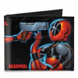 Marvel Deadpool vs. Lady Deadpool Face Off Canvas Bifold Buckle Down Wallet