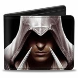 Assassin's Creed Black Bifold Buckle Down Wallet