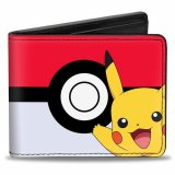 Pokemon Pikachu and Pokeball Buckle Down Bifold Wallet