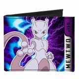 Pokemon Mewtwo Canvas Buckle Down Bifold Wallet