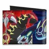 Pokemon Groudon, Kyogre, Rayquaza Canvas Buckle Down Bifold Wallet