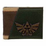 Zelda Metal Princess Logo Brown and Black Bifold Wallet