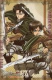 Attack on Titan Eren and Levi Vertical Multicross Cloth Poster