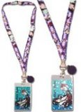 Black Butler Purple Chibi Group Lanyard Key Chain