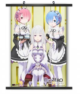 Re:Zero Rem, Ram and Emelia Wall Scroll Poster