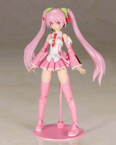 Frame Music Girl Sakura Miku Model Kit Action Figure
