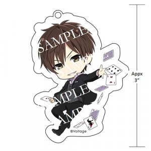"Kissed by the Baddest Bidder: Eisuke Cards 3"" Acrylic Keychain"