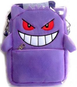 Pokemon 10'' Gengar Shoulder Bag with Clear Pouch