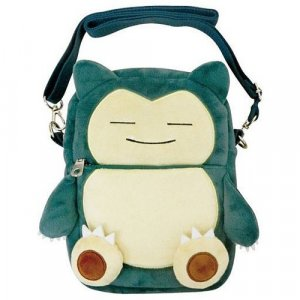 Pokemon 10'' Snorlax Shoulder Bag with Clear Pouch