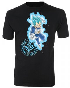 Dragonball Z Super SSGSS Vegeta Men's Black T-Shirt