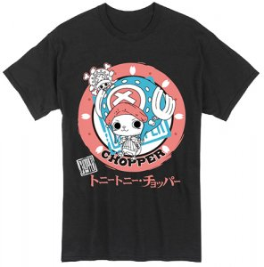 One Piece Chopper Katakana Black T-Shirt