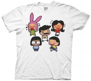 Bob's Burgers Group Chibis Adult Men's T-Shirt