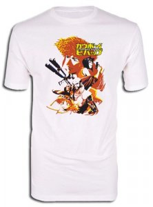 Cowboy Bebop Sepia Group White Adult Men's T-Shirt