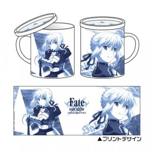 Fate Stay Night Saber Coffee Mug Cup with Lid