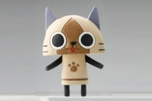 Monster Hunter Tan Airou Cat Fastener Mascot