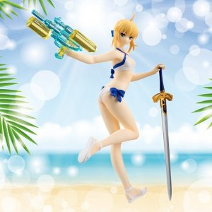 "Fate/Grand Order  7"" Saber Swim Suit/Archer Altria Pendragon Servant Action Prize Figure"