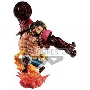 One Piece Monkey D. Luffy Gear 4 Kong Gun Crimson Color Ver. Banpresto Prize Figure