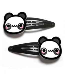 Acrylic Hair Clips Panda Bear by Tasty Peach