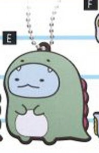 Sumikko Gurashi Tokage Rubber Luggage Tag Key Chain