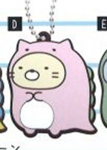 Sumikko Gurashi Neko Rubber Luggage Tag Key Chain