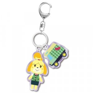 Animal Crossing Isabelle and Charm Key Chain