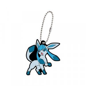 Pokemon Glaceon Eevolution Gashapon Rubber Key Chain
