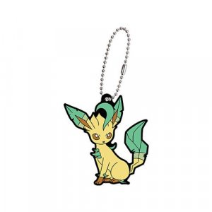 Pokemon Leafeon Eevolution Gashapon Rubber Key Chain
