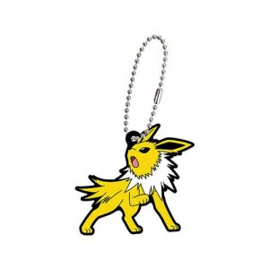 Pokemon Jolteon Eevolution Gashapon Rubber Key Chain