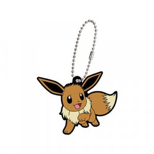 Pokemon Eevee Eevolution Gashapon Rubber Key Chain